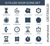 hour icons. trendy 16 hour... | Shutterstock .eps vector #1307356120