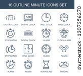 minute icons. trendy 16 minute... | Shutterstock .eps vector #1307356270