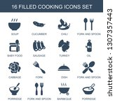 cooking icons. trendy 16... | Shutterstock .eps vector #1307357443