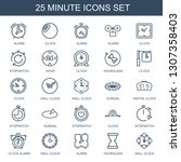 25 minute icons. trendy minute... | Shutterstock .eps vector #1307358403