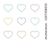 hearts icon white background.... | Shutterstock .eps vector #1307358553