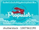 set of smooth script font named ... | Shutterstock .eps vector #1307361190