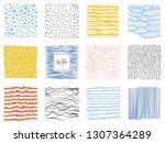 set of abstract backgrounds and ... | Shutterstock .eps vector #1307364289