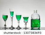 a skull bottle and crystal... | Shutterstock . vector #1307383693