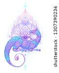 fantasy creature dragon.... | Shutterstock .eps vector #1307390236