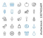 fruit icons set. collection of... | Shutterstock .eps vector #1307401609