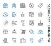 shop icons set. collection of... | Shutterstock .eps vector #1307405380