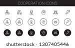 cooperation icons set.... | Shutterstock .eps vector #1307405446