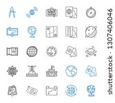 geography icons set. collection ... | Shutterstock .eps vector #1307406046