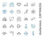 romance icons set. collection... | Shutterstock .eps vector #1307406226