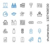 product icons set. collection... | Shutterstock .eps vector #1307408530