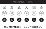mechanic icons set. collection... | Shutterstock .eps vector #1307408680