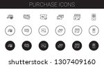purchase icons set. collection... | Shutterstock .eps vector #1307409160