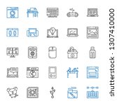 pc icons set. collection of pc... | Shutterstock .eps vector #1307410000