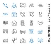 chat icons set. collection of... | Shutterstock .eps vector #1307411173