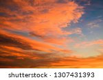 colorful sky at sunset | Shutterstock . vector #1307431393