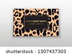 business card trendy leopard... | Shutterstock .eps vector #1307437303