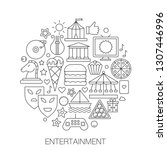 entertainment in circle  ... | Shutterstock . vector #1307446996
