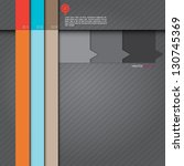 modern speech origami style...   Shutterstock .eps vector #130745369