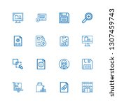 editable 16 add icons for web... | Shutterstock .eps vector #1307459743