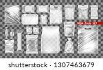 mega transparent empty plastic... | Shutterstock .eps vector #1307463679