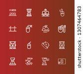 editable 16 wait icons for web... | Shutterstock .eps vector #1307464783