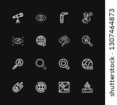 editable 16 discovery icons for ...   Shutterstock .eps vector #1307464873
