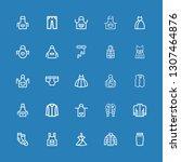 editable 25 garment icons for... | Shutterstock .eps vector #1307464876