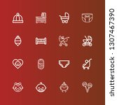 editable 16 carriage icons for... | Shutterstock .eps vector #1307467390