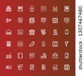 editable 36 school icons for... | Shutterstock .eps vector #1307467480