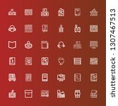 editable 36 library icons for... | Shutterstock .eps vector #1307467513