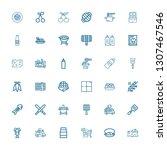 editable 36 gourmet icons for... | Shutterstock .eps vector #1307467546