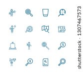 editable 16 seek icons for web... | Shutterstock .eps vector #1307467573