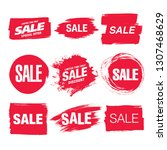 sale banner layout design set | Shutterstock .eps vector #1307468629