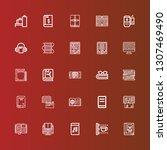editable 25 reader icons for... | Shutterstock .eps vector #1307469490