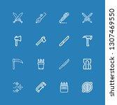 editable 16 sharp icons for web ... | Shutterstock .eps vector #1307469550