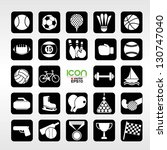 24 sports vector icons set.eps10 | Shutterstock .eps vector #130747040