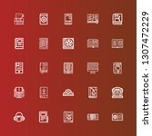 editable 25 read icons for web... | Shutterstock .eps vector #1307472229