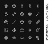 editable 25 eat icons for web... | Shutterstock .eps vector #1307474803
