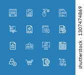 editable 16 add icons for web... | Shutterstock .eps vector #1307474869