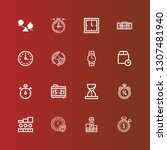 editable 16 second icons for... | Shutterstock .eps vector #1307481940