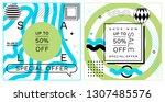 set of trendy abstract... | Shutterstock .eps vector #1307485576