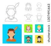 vector illustration of imitator ... | Shutterstock .eps vector #1307491663