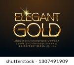 vector elegant gold alphabet... | Shutterstock .eps vector #1307491909