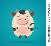 cartoon illustration of funny... | Shutterstock . vector #1307492593