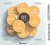 eps10 vector abstract circles... | Shutterstock .eps vector #130749494