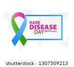 three color ribbon for the... | Shutterstock .eps vector #1307509213