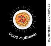 good morning banner with... | Shutterstock .eps vector #1307509333