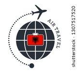 albania air travel. vector... | Shutterstock .eps vector #1307517520