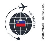 liechtenstein air travel.... | Shutterstock .eps vector #1307517523